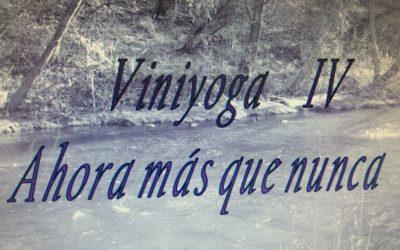 Viniyoga, ahora más que nunca.   IV