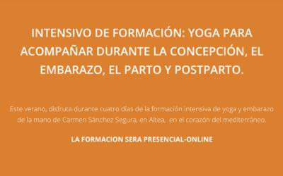 FORMACIÓN DE YOGA PARA LA CONCEPCIÓN, EMBARAZO, PARTO Y POSTPARTO.